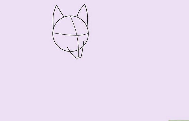 Prent getiteld Teken `n Wolf Stap 10