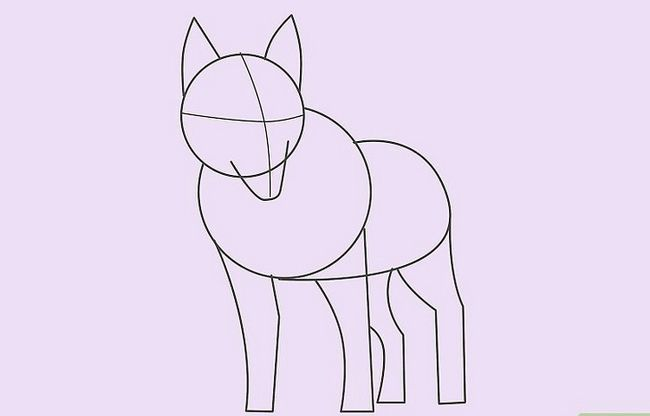 Prent getiteld Teken `n Wolf Stap 12