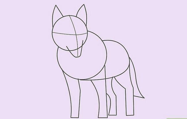 Prent getiteld Teken `n Wolf Stap 13