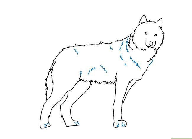 Prent getiteld Teken `n Wolf Stap 7