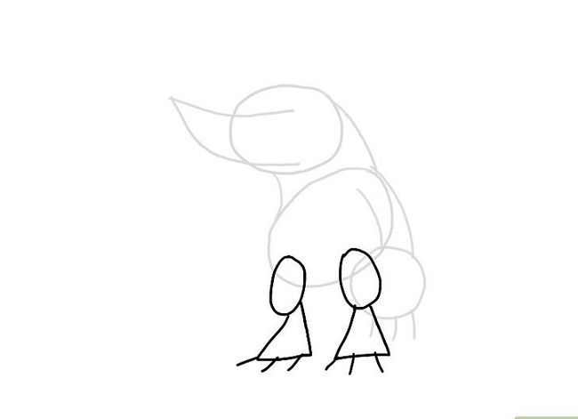 Prent getiteld Teken `n monster Stap 6