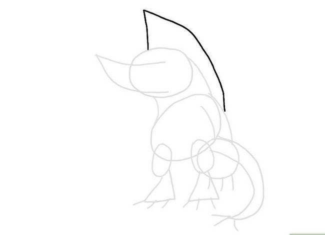 Prent getiteld Teken `n Monster Stap 8