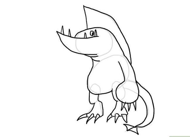 Prent getiteld Teken `n Monster Stap 10