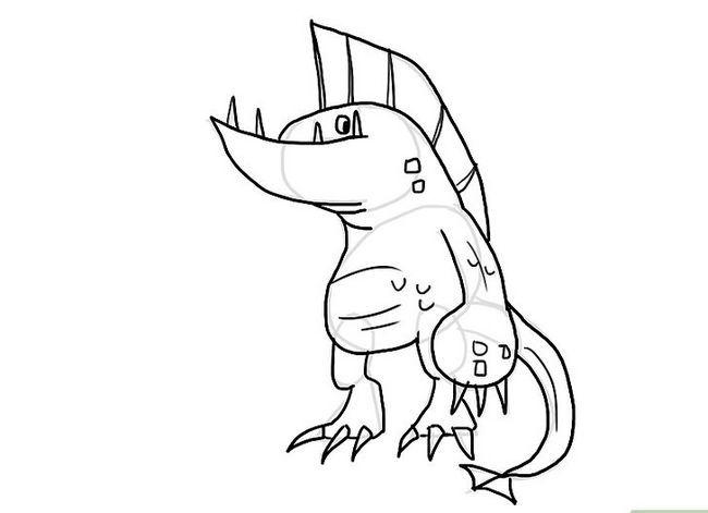 Prent getiteld Teken `n monster Stap 11