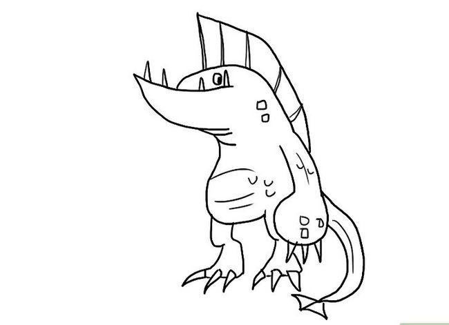 Prent getiteld Teken `n Monster Stap 12