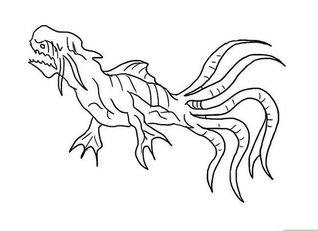 Prent getiteld Teken `n Monster Stap 24