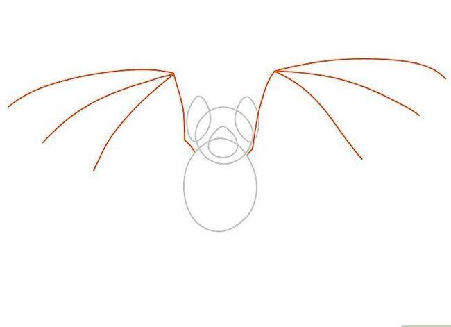 Prent getiteld Teken `n bat Stap 13