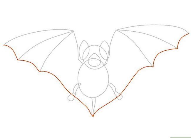 Prent getiteld Teken `n bat Stap 15