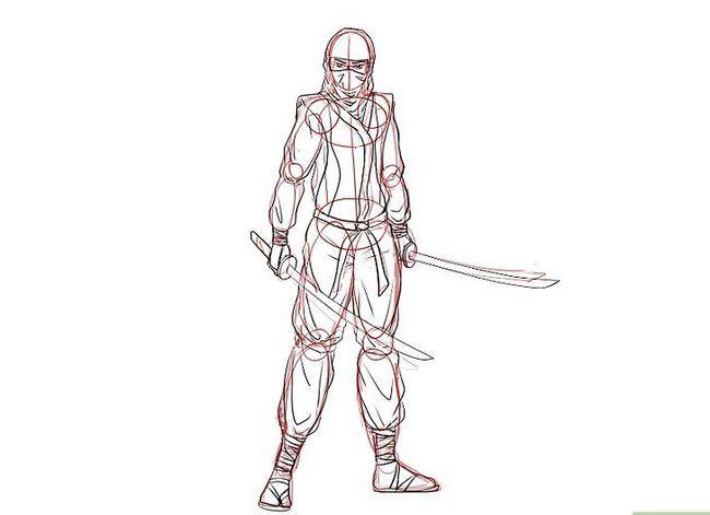 Prent getiteld Teken `n Ninja Stap 14Bullet1