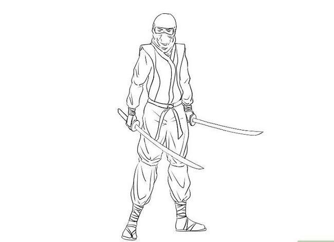 Prent getiteld Teken `n Ninja Stap 15