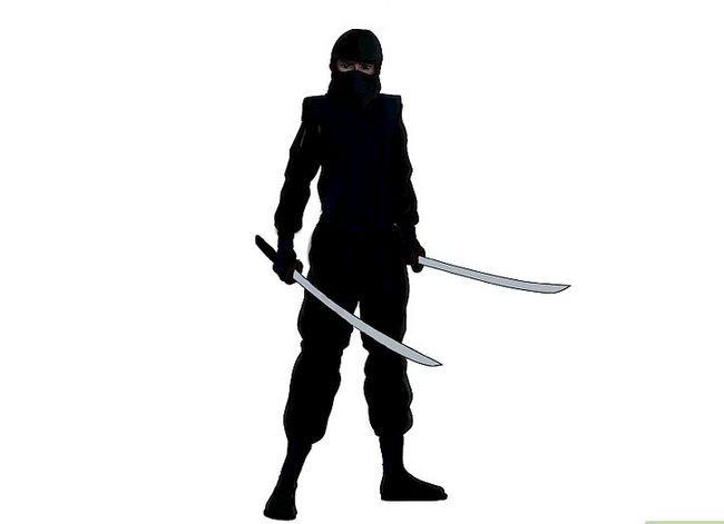 Prent getiteld Teken `n Ninja Stap 16