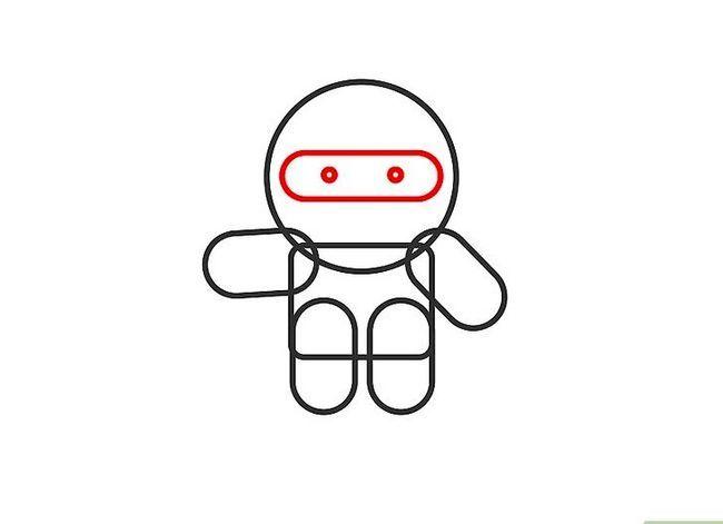 Prent getiteld Teken `n Ninja Stap 4