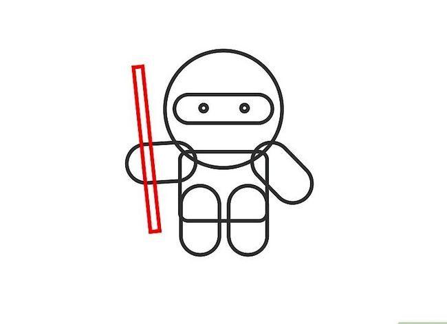 Prent getiteld Teken `n Ninja Stap 5