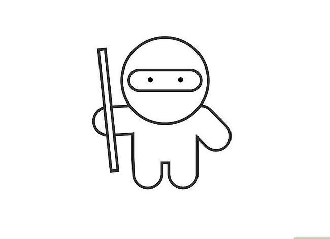 Prent getiteld Teken `n Ninja Stap 6
