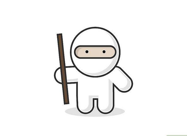 Prent getiteld Teken `n Ninja Stap 7