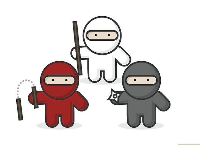 Prent getiteld Teken `n Ninja Stap 8
