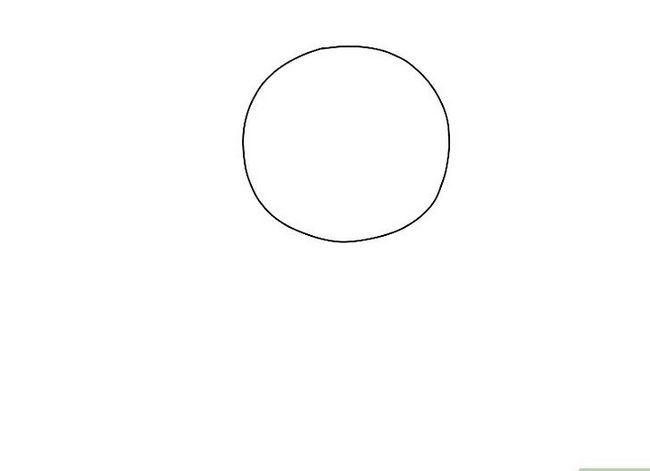 Prent getiteld Teken `n Realistiese Menslike Portret Stap 1