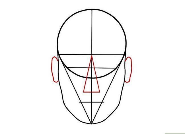Prent getiteld Teken `n Realistiese Menslike Portret Stap 14