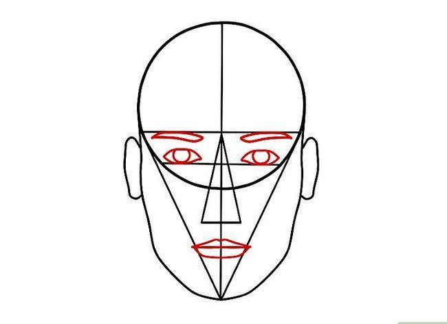 Prent getiteld Teken `n Realistiese Menslike Portret Stap 15