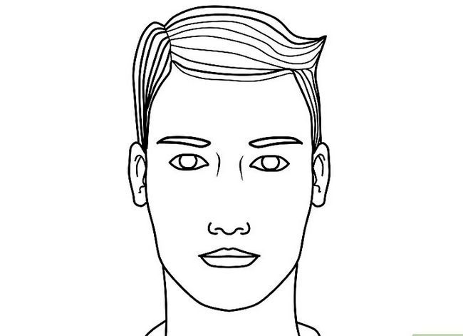 Prent getiteld Teken `n Realistiese Menslike Portret Stap 18