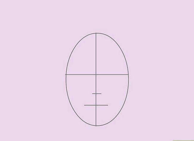 Prent getiteld Teken `n Realistiese Menslike Portret Stap 3