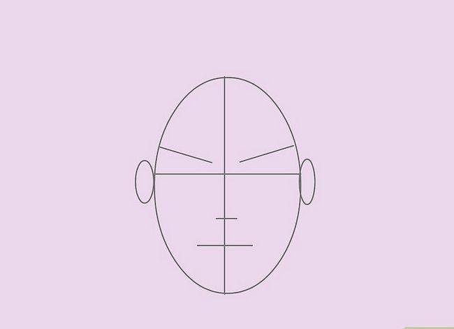 Prent getiteld Teken `n Realistiese Menslike Portret Stap 5