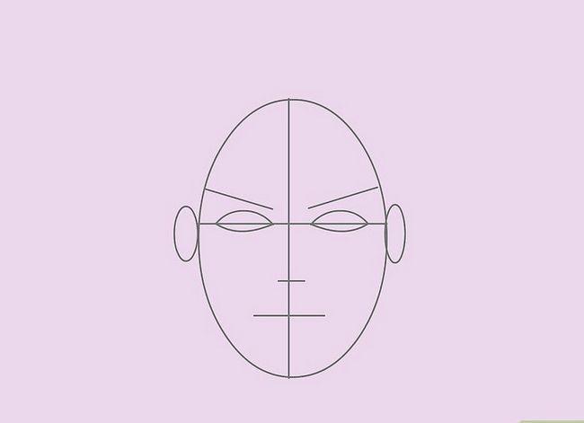 Prent getiteld Teken `n Realistiese Menslike Portret Stap 6