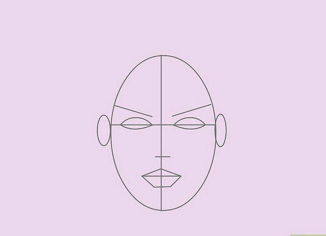 Prent getiteld Teken `n Realistiese Menslike Portret Stap 7