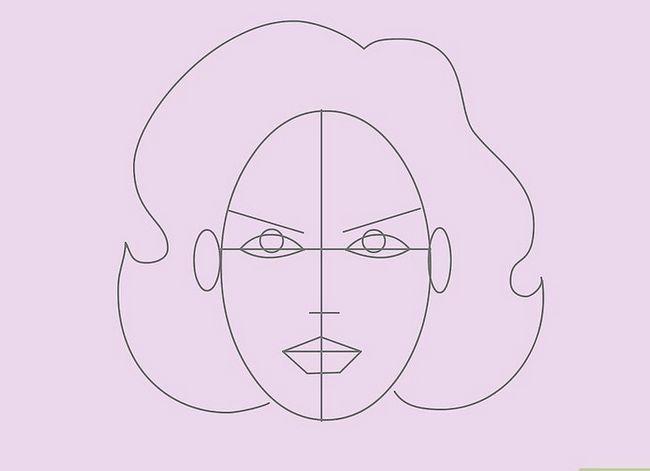 Prent getiteld Teken `n Realistiese Menslike Portret Stap 9