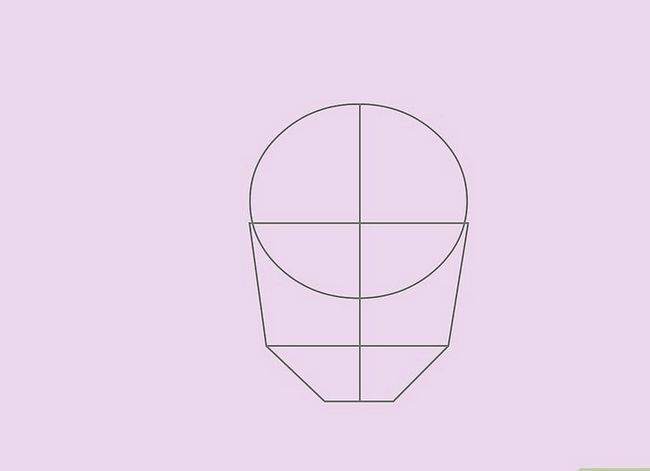 Prent getiteld Teken `n Realistiese Menslike Portret Stap 16