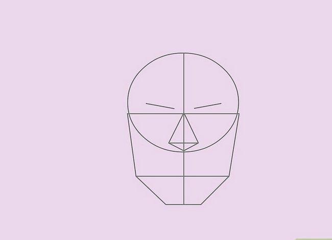 Prent getiteld Teken `n Realistiese Menslike Portret Stap 19