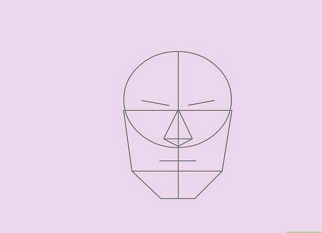 Prent getiteld Teken `n Realistiese Menslike Portret Stap 20