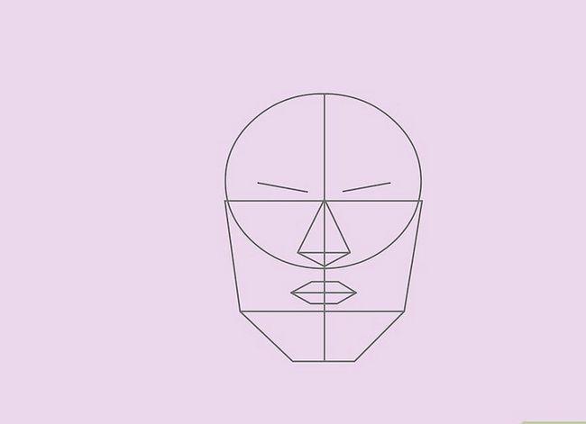 Prent getiteld Teken `n Realistiese Menslike Portret Stap 21