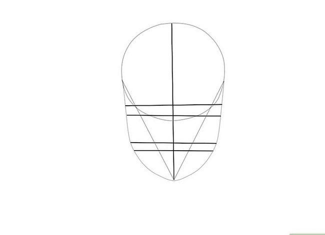 Prent getiteld Teken `n Realistiese Menslike Portret Stap 4