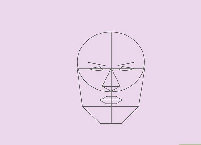 Prent getiteld Teken `n Realistiese Menslike Portret Stap 22