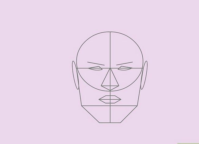 Prent getiteld Teken `n Realistiese Menslike Portret Stap 23