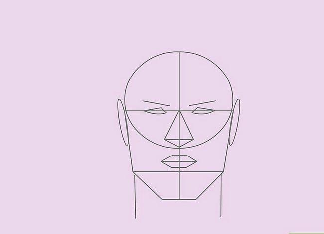 Prent getiteld Teken `n Realistiese Menslike Portret Stap 24