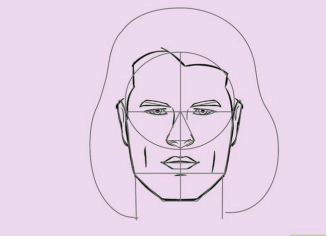 Prent getiteld Teken `n Realistiese Menslike Portret Stap 25