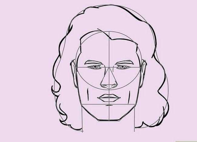 Prent getiteld Teken `n Realistiese Menslike Portret Stap 26