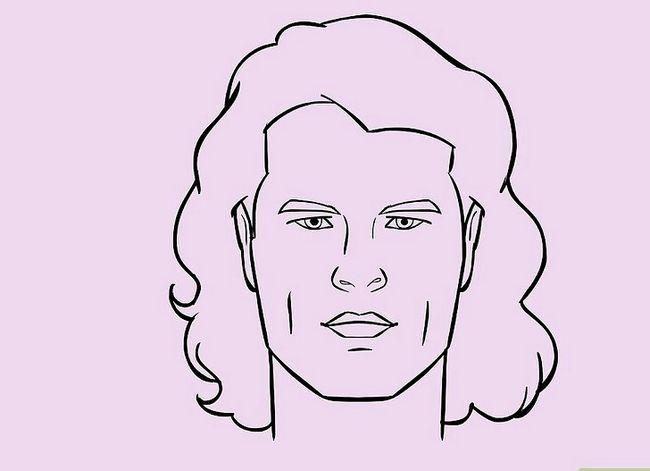 Prent getiteld Teken `n Realistiese Menslike Portret Stap 27