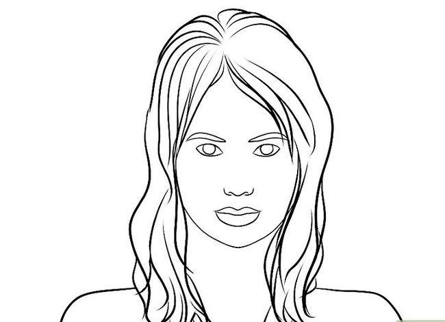Prent getiteld Teken `n Realistiese Menslike Portret Stap 8