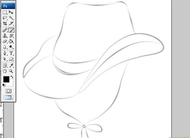 Prent getiteld Teken `n Cowboy-hoed in Adobe Illustrator CS3 Step 2