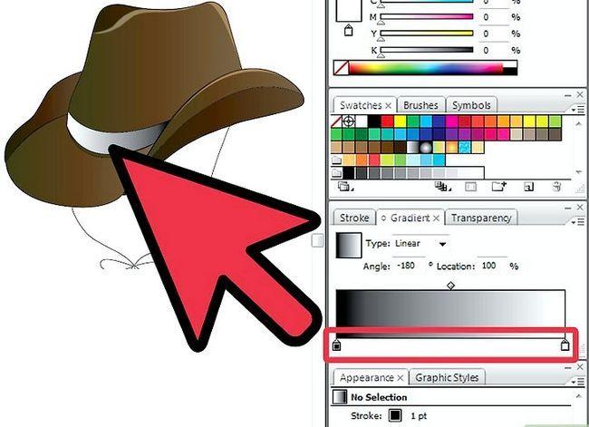 Prent getiteld Teken `n Cowboy-hoed in Adobe Illustrator CS3 Stap 7