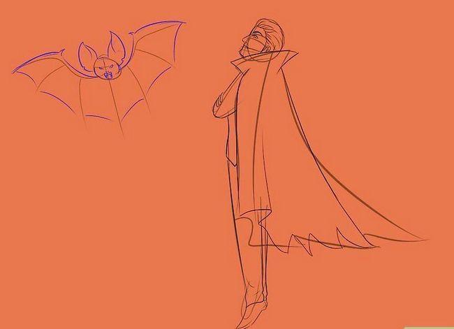 Prent getiteld Teken `n vampier Stap 15