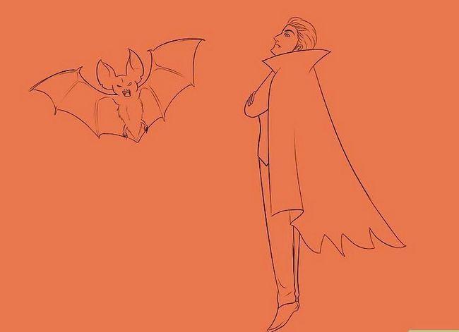 Prent getiteld Teken `n vampier Stap 18