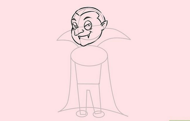 Prent getiteld Teken `n Vampier Stap 6