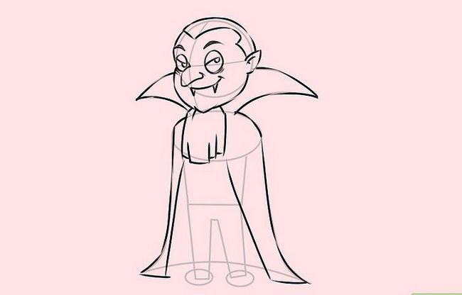 Prent getiteld Teken `n Vampier Stap 7