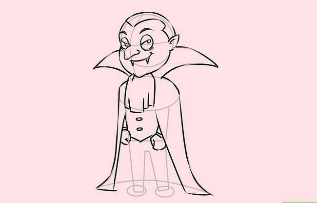 Prent getiteld Teken `n vampier Stap 8