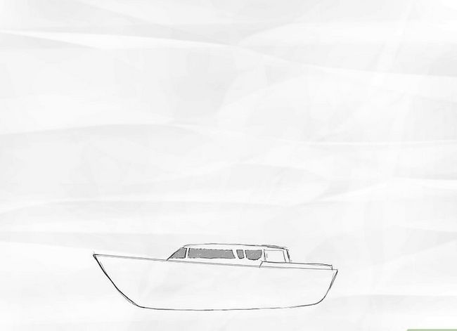 Prent getiteld Teken `n Seilboot Stap 2