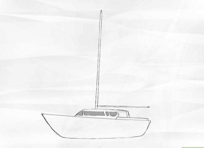 Prent getiteld Teken `n Seilboot Stap 3